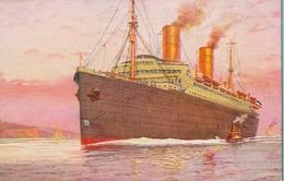 BARCOS / SHIPS , TARJETA POSTAL NO CIRCULADA , NORDDEUTSCHER LLOYD BREMEN , D. COLUMBUS - Schiffe