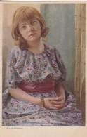 AK R. U. M. Dührkoop - Mädchen In Geblümtem Kleid - Künstlerkarte  (41926) - Illustratoren & Fotografen