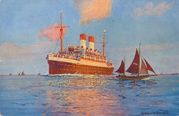 BARCOS / SHIPS , TARJETA POSTAL NO CIRCULADA , HAMBURG - SÜDAMERIKANISCHE - Schiffe