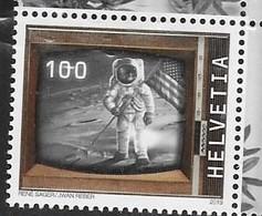 SWITZERLAND, 2019, MNH, SPACE, MOON LANDING, TV, 1v - Space