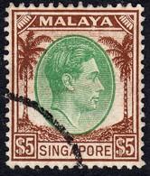 Singapore 1948 P. 14 $5 SG15 - Used - Singapore (1959-...)