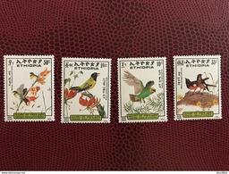 ÉTHIOPIE 1989 4 V Neuf ** Mi 1331 A 1334 Oiseau Bird Of ETHIOPIA - Papagayos