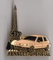 PIN'S AUTOMOBILE RENAULT GRENELLE CLIO TOUR EIFFEL - Renault