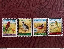ÉTHIOPIE 1985 4 V Neuf ** Mi 1196 A 1199 Oiseau Bird Of ETHIOPIA - Papagayos
