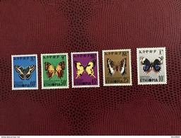 ÉTHIOPIE 1975 5 V Neuf ** MNH Mi 806 A 810 Papillon Mariposa Butterflies Of ETHIOPIA - Mariposas