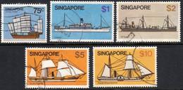 Singapore 1980 High Values SG372-6 - Used - Singapore (1959-...)