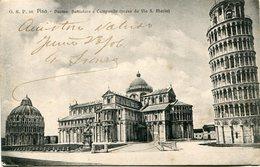 PISA - DUOMO, BATTISTEO E CAMPANILE. ITALIA POSTAL POSTALE CIRCULEE 1906 -LILHU - Pisa