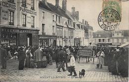28 . Eure Et Loir : Nogent Le Routrou  : Le Marché . - Nogent Le Rotrou
