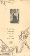 IMAGE PIEUSE CANIVET AVEC VETEMENTS DE BERNADETTE SOUBIROUS  TISSUS 12 X 6.50 CM - Imágenes Religiosas