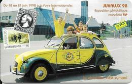 CARTE-PUCE-LUXEMBOURG-50U-OR2-TP14-JUVALUX98-2 CV CITROEN-TBE - Luxembourg