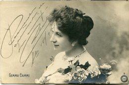 """GEMMA CAIMMI"" CARTE POSTALE PORTRAIT D'ARTISTE CPA POSTAL ARTISTA. CIRCULEE CIRCA 1910's -LILHU - Artisti"