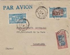 SENEGAL - LETTRE PAR AVION DAKAR 16.11.1928 POUR CASABLANCA MAROC   /1 - Lettres & Documents
