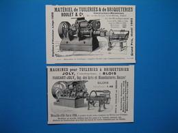 (1913) Constructeurs De Machines Pour Tuileries & Briqueteries : JOLY à Blois Et BOULET à Paris - Unclassified
