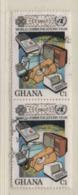 Ghana 1983 MiNr.: 983 Jahr Der Kommunikation Paar Gestempelt Pair Used Scott 835 - Ghana (1957-...)