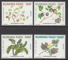 2012 Burkina Faso Trees Fruits Arbres  Complete Set Of 4 MNH  *** VERY DIFFICULT *** - Burkina Faso (1984-...)
