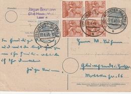 Allemagne Zone AAS Entier Postal Münster 1948 - Zone AAS