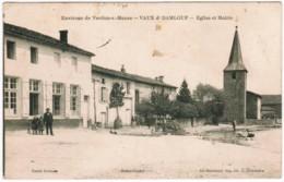 P326 - VAUX D-DAMLOUP - Eglise Et Mairie - Verdun