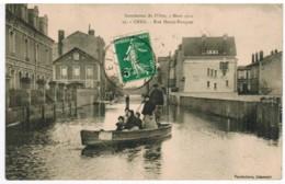 P347 - CREIL - Inondations De L'oise, 5 Mars 1910, Rue Henry Pauquet - Creil