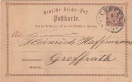 AD Nord Deutscher Postbezirk Postkarte 1873 Hufeisenstempel - Norddeutscher Postbezirk