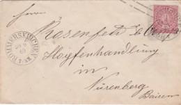 AD Nord Deutscher Postbezirk Umschlag 1869 - Norddeutscher Postbezirk