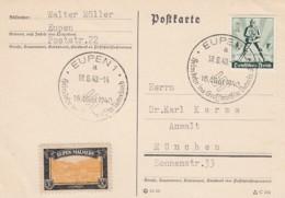 Deutsches Reich Postkarte 1940 Eupen - Deutschland