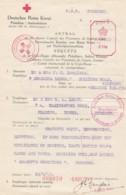 Deutsches Reich Dokument Rotes Kreuz 1942 Guernsey - Deutschland