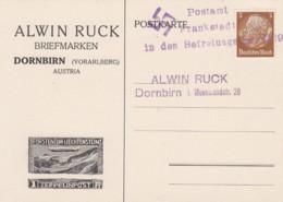 Deutsches Reich Postrkarte 1938 Frankstadt In Den Befreiung - Deutschland