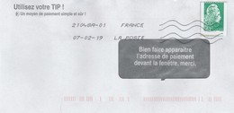 MARIANNE L'ENGAGEE  VARIETE DE PIQUAGE SUR LETTRE - 2018-... Marianne L'Engagée