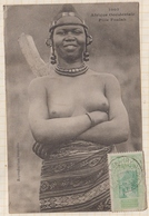 9AL1523 AFRIQUE OCCIDENTALE A O F Seins Nus FILLE FOULAH 2 SCANS - Guinea Francese
