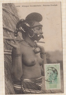 9AL1526 AFRIQUE OCCIDENTALE A O F Seins Nus FEMME FOULAH 2 SCANS - French Guinea
