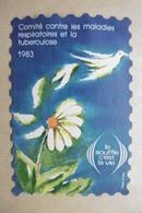 Erinnophilie Timbre 8 X 12 Cm Antituberculeux Campagne Année 1983 Tuberculose Et Maladies Respiratoires - Erinnofilia