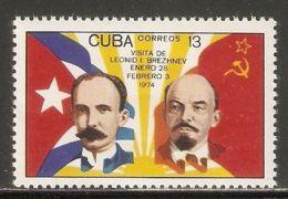 1974 Mi# 1954 ** MNH - Short Set - Jose Marti / Lenin - Cuba