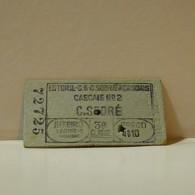 Ticket - Portugal - Cascais Nº2 - Inteiro - 3ª Classe - Europe