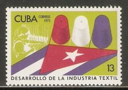 1975 Mi# 2090 ** MNH - Development Of The Textile Industry - Nuevos