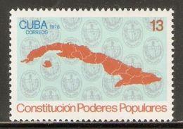 1976 Mi# 2187 ** MNH - Constitution Of Popular Government - Cuba