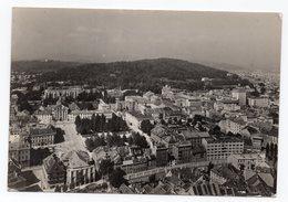 1957 YUGOSLAVIA, SLOVENIA, LJUBLJANA, PANORAMA, FLAM WITH A BEE, INVEST IN POST OFFICE BANK,ILLUSTRATED POSTCARD USED - Yugoslavia