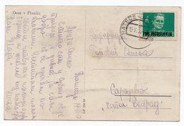 1950 YUGOSLAVIA, SLOVENIA, PLANICA, TPO RATECE-JESENICE, TITO, SKI HUT, ILLUSTRATED POSTCARD,  USED - Yugoslavia