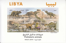 2013 Libya Dinosaurs  Miniature Sheet Of 6 MNH - Libia