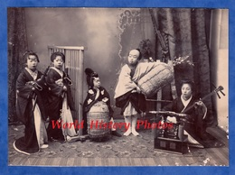 Photo Ancienne Avant 1900 - JAPON - Beau Portrait D' Enfant Japonais - Asie Instrument Musique Music Asia Japan Fille - Anciennes (Av. 1900)