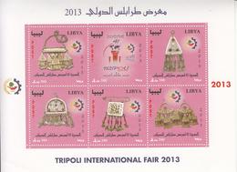 2013 Libya Jewellery  Miniature Sheet Of 6 MNH - Libië