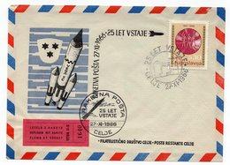 1966 YUGOSLAVIA, SLOVENIA, CELJE, SPECIAL COVER, ROCKET POST, SPECIAL CANCELATION, PETROVCE STAMP - 1945-1992 Socialist Federal Republic Of Yugoslavia