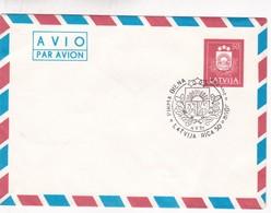 1991 ENTIER STATIONERY LATVIA OBLITEREE FDC - BLEUP - Lettonie