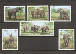 Vietnam - Eléphants ( 774/779 Non Dentelés Oblitérés) - Vietnam