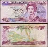 20 DOLLARS 1988-93 GRENADE / GRENADA - Eastern Caribbean Central Bank - P24 (C2) - East Carribeans