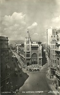 "4323 ""BARCELONA-VIA LAYETANA SUPERIOR""ANIMATA-AUTO ANNI '50 CART. POST. ORIG..SPEDITA 1955 - Barcelona"