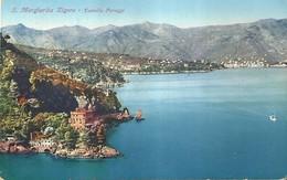 "4324 ""S. MARGHERITA LIGURE-CASTELLO PARAGGI"" CART. POST. ORIG..SPEDITA 1931 - Altre Città"
