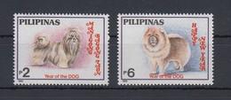 Philippinen 1993 Hunde Mi.-Nr. 2372-73 Satz 2 Werte **  - Philippinen