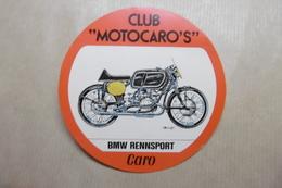 """MOTOS Autocollant CLUB """"MOTOCARO'S"""" BMW RENNSPORT - Motos"""