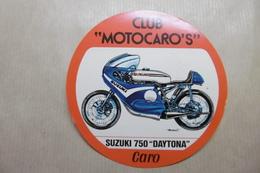 """MOTOS Autocollant CLUB """"MOTOCARO'S"""" SUZUKI 750 """"DAYTONA"""" - Motos"""