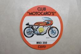 """MOTOS Autocollant CLUB """"MOTOCARO'S"""" MV3 350 - Motor Bikes"""